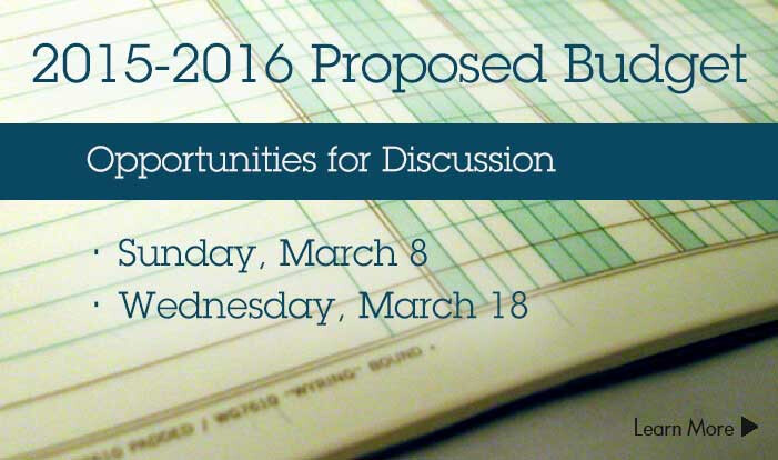 2015-2016 Proposed Budget