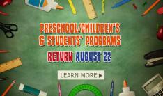 Preschool, Children & Student Programs Return
